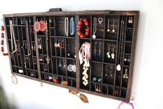 drawer as jewelry display