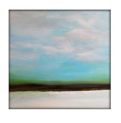 CUSTOM Large Original Abstract Canvas Contemporary/Modern Painting - 36x36 - Textured Blues, Greens,Chocolate Browns, white and a touch gold...