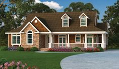 OMGOSH! THIS IS IT!!! Farmhouse House Plan with 2028 Square Feet and 3 Bedrooms from Dream Home Source | House Plan Code DHSW076446
