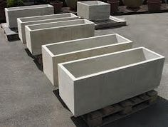 concrete planter box