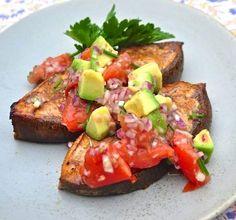 Cedar Plank Halibut w Charred Tomato Avocado Salsa #Recipe http://www.rockrecipes.com/cedar-plank-halibut/… via @RockRecipes #Foodie #FoodPorn