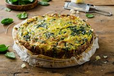 Frittata porro e spinaci My Favorite Food, Favorite Recipes, Gluten Free Pie Crust, Antipasto, Cooking Time, Quiche, Buffet, Brunch, Food And Drink