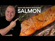 If you love salmon and want to cook it the best possible way, this is the perfect video for you. Cooking salmon sous vide insures perfect doneness every time. Perfect Video, Perfect Gif, Sous Vide Equipment, Sauce For Salmon, Best Smoker, Glass Pan, Camp Chef, Cooking Salmon, Entrees