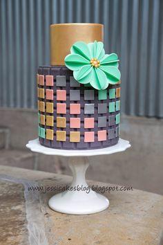 Jessica Harris | A three-dimensional (hidden design) cake Using overlays