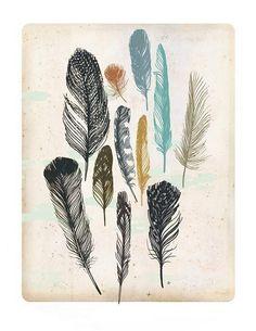 Feathers Tattoo Ideas  ink ideas | tattoo ideas | tattoo inspiration | feather illustration