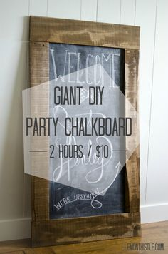 Giant DIY Chalkboard - lemonthistle.com
