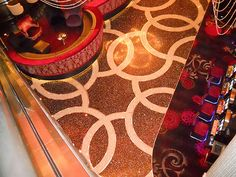 A cement-based terrazzo finish at the Cosmopolitan in Las Vegas. Work was done by ArCon Flooring, also out of Las Vegas.