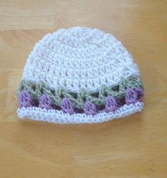 Crochet Newborn Baby Flower Tulip Hat Beanie Spring Easter Photo Prop $6.99