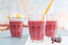 Bosvruchtensmoothie - Recept - Allerhande - Albert Heijn Vegan Snacks To Buy, Healthy Vegan Snacks, Healthy Drinks, Smoothie Fruit, Smoothie Blender, Smoothie Drinks, Yummy Smoothie Recipes, Yummy Smoothies, Snack Recipes