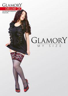 Steampunk Tights  & Socks Glamory Deluxe 20 Denier Hold Ups £13.99 AT vintagedancer.com
