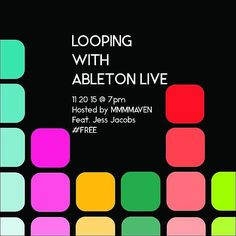 This Friday night! One Person Band: Looping with @Ableton Live  Want to spice up your solo performance? Add an orchestra to your band's live set? Meddle in sublime sound chaos? This workshop will get you started. With the help of instructor Jess Jacobs learn how to use Ableton Live's looper how to program an external midi controller for ease of use and get a peek at cutting edge performance devices.  RSVP to this free seminar via the link in our bio!  #music #technology #art #cambma…