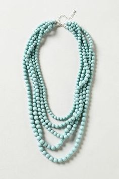 Seabreeze Beaded Necklace >>> Anthropologie