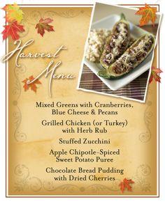 dinner party menu plans