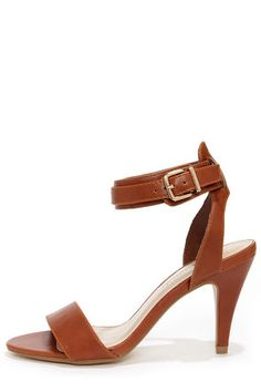 4ab8276e3ed City Classified Sigman Tan Ankle Strap Heels at Lulus.com!  21 Ankle Strap  Heels