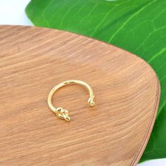 Double Noeuds Gold Ring