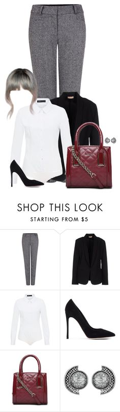 """""""Untitled #1563"""" by directioner-123-ii on Polyvore featuring Pink Tartan, Maesta, Hallhuber, Gianvito Rossi, Bebe and FFfatifashion"""