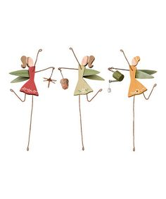 Fairy Garden Stake Set by Primitives by Kathy