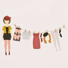 remember playing with paper dolls as a child? i do!