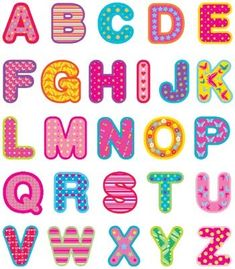 Letras en rosa para recortar ; un abecededario para imprimir y recortar con divertidas letras en rosa para realizar tus manualidades ...