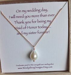 Bridesmaid Gift Maid Of Honor Pear By Wendyshraydesigns 36 00