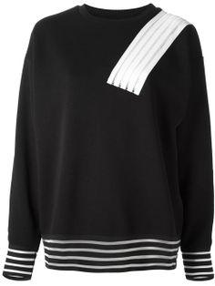 Women - All - Christopher Kane Contrast Striped Sweatshirt - Biffi