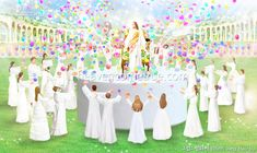 Heaven's story through the pictures > The stage where glory is offered Catholic Art, Catholic Saints, Nova Jerusalem, Heaven Is Real, Heaven Pictures, Gurbani Quotes, Prophetic Art, The Kingdom Of God, Praise The Lords