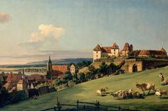 View of Pirna by Bellotto Mural, custom made to suit your wall size. Custom design service and express delivery available.