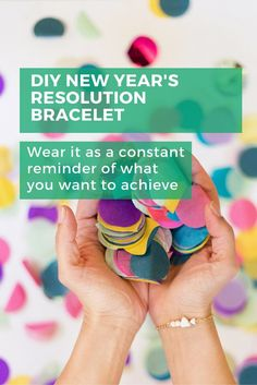 Never forget your New Year's Resolutions by making a bracelet.  Wear it everyday as a constant reminder of all you wish to accomplish in the year! #diy #jewellery #newyear #gift
