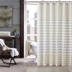INK+IVY Sutton Multi 100% Cotton Shower Curtain