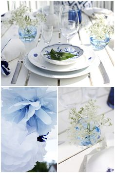 soothing blue and white!