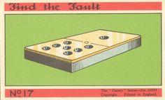 """""""Find the Fault,"""" vintage game card"""