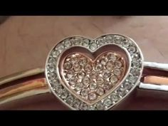 """J.NINA """"Cupid Heart"""" Rose-Gold Plated Heart Bangle. made with Swarovski crystals Women Bracelet. With its delicate heart, it's the perfect way to say I love ... What a lovely bracelet this is, My wife Pam would love this as a gift."""