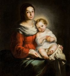Murillo was a talented painter who worked for the Catholic church in Spain. Most of his paintings show up in Christmas postcard these days.