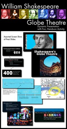 Launch your study of any Shakespearean play with this full-class period multimedia lecture and hands-on activity that will get your students excited about working with The Bard and learning about his Globe Theatre.