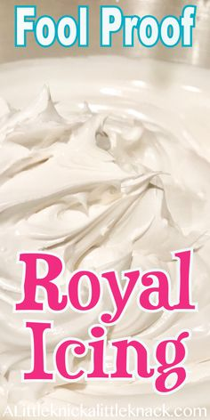 Proof Royal Icing Recipe - A Little Knick a Little Knack Easy fool proof royal icing perfect for your holiday sugar cookies.Easy fool proof royal icing perfect for your holiday sugar cookies. Easy Royal Icing Recipe, Sugar Cookie Royal Icing, Best Sugar Cookie Recipe, Best Sugar Cookies, Frosting For Sugar Cookies, Royal Icing Recipe Without Meringue Powder, Royal Icing Recipe For Flowers, King Cake Icing Recipe, Flood Royal Icing Recipe