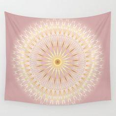 rose gold mandala medallion stylish trendy modern digital