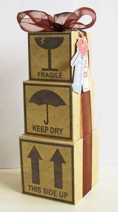 New Home Gift Wrap #housewarming #gift