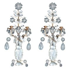 1stdibs - Pair 2 Light Rock Crystal Wall Sconces explore items from 1,700  global dealers at 1stdibs.com