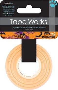 Halloween Washi Tape. This tape is perfect for all paper projects! Use as a border to make unique scrapbook pages! Features a fun design that will accent a large variety of projects! • This listing co