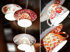 fabriquer une suspension originale en tasses à café et à thé