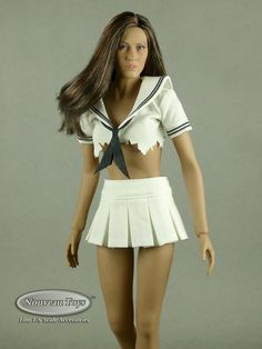 This is the scale female white school girl uniform top and white mini skirt made by Super Duck. White Mini Skirts, Red Skirts, Cheer Skirts, School Uniform Girls, Girls Uniforms, Female Head, Female Bodies, Girls Accessories, Leather Ankle Boots