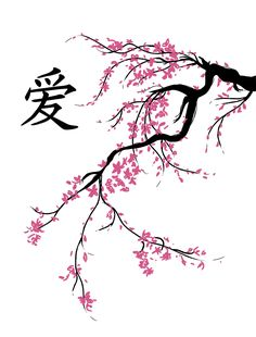 blossom japanese cherry tree tattoo easy drawings pencil chinese blossoms symbols trees discover
