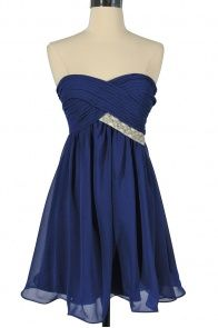 I wish I had places to wear a dress - Love Royal Blue!!
