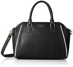 kate spade new york Prospect Place Pippa Satchel Bag - Top-Handle Bags - Apparel - Frequently updated comprehensive online shopping catalogs Bow Purse, Satchel Purse, Crossbody Bag, Black Leather Satchel, Pebbled Leather, Leather Wallet, Cow Leather, Large Handbags, Black Handbags
