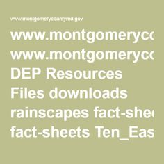 www.montgomerycountymd.gov DEP Resources Files downloads rainscapes fact-sheets Ten_Easy_Native_Plants_for_Shady_Gardens.pdf