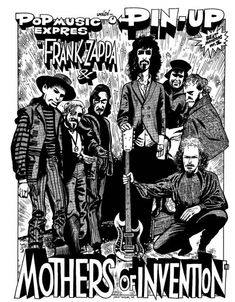 kája saudek - mothers of invention Music Pics, Music Stuff, Pop Music, Music Pictures, Rock Posters, Band Posters, Music Posters, Greatest Rock Bands, Bd Comics