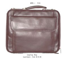 This is a Laptop Bag made in Cow Natural Dry Milled Leather.