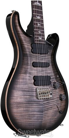 PRS 513 10-Top - Charcoal Burst with Pattern Regular Neck image 3