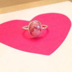 rhodochrosite and sterling silver ring My Beautiful Friend, Sterling Silver Jewelry, Handmade Jewelry, Gems, Stud Earrings, Jewels, Jewellery, Gemstones, Bijoux