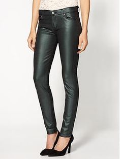 7 For All Mankind The Skinny CoatedJeans | Piperlime